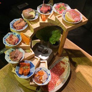 肉源全部盛り(熟成焼肉 肉源 六本木店)