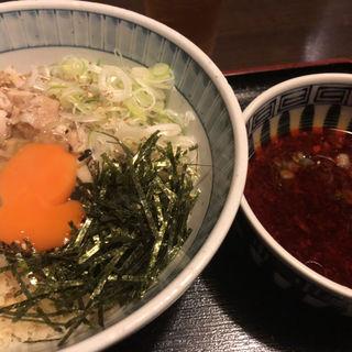 らー油肉つけそば(蕎麦・酒膳 貴石 (【旧生そば 家庭料理 貴石】))