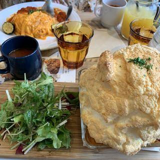 ごろっと野菜とたまごのスフレドリア(BURN SIDE ST CAFE CRAFT KITCHEN+ KUZUHA)