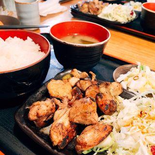 もも肉炙り焼き定食(矮鶏 )