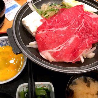 牛すき焼き鍋定食(旬鮮酒場 天狗 宮益坂店 )