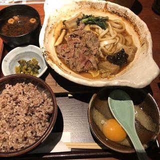 桜肉のすき焼き定食(味噌)(桜肉料理 馬舌屋 小伝馬町店 (ばたんや))