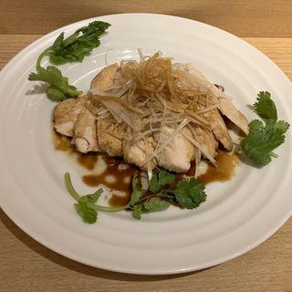 蒸し鶏のネギソース(京華小吃 仙台)