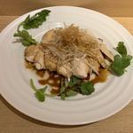 蒸し鶏のネギソース