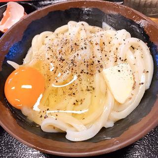 釜バターうどん(手打十段 うどんバカ一代)