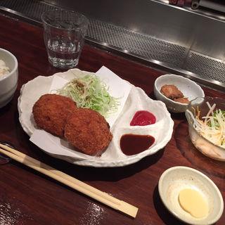 シーフードグラタンコロッケ定食(八幡浜はなれ )