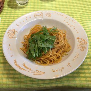 日替りパスタランチ  蒸し鶏と水菜の パプリカ風味オイルソース(ピッツェリア マリノ 高蔵寺店 )