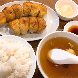 餃子定食(ホワイト餃子 植田餃子店 (ホワイトギョウザ))