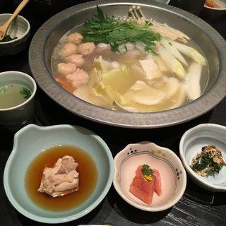 水炊き鍋(華味鳥 博多駅前店)