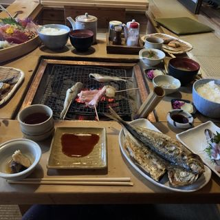 鯵のまこ茶膳(囲炉茶屋 (irorichaya))