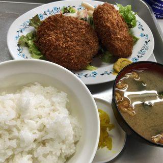 和牛メンチコロッケ定食(一休食堂 (いっきゅうしょくどう))