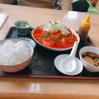 エビチリ定食(味の店 こだま食堂 )