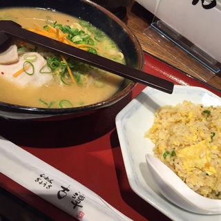 古潭らーめん+チャーハンセット(古潭 かっぱ横丁店 (こたん))