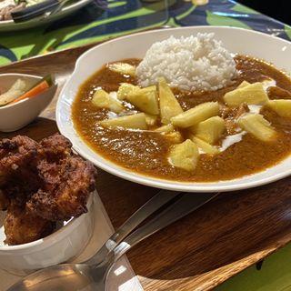 チキンパイナップルカレー+もちこセット(ラ オハナ (La Ohana))