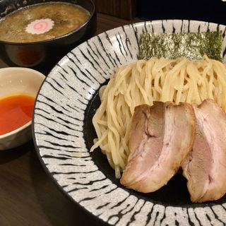 極にぼ背脂つけ麺(麺や玄鳥)
