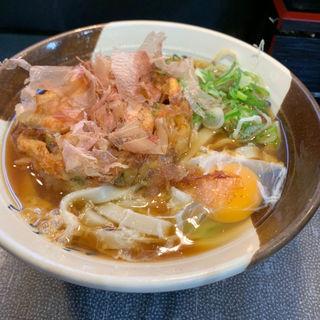 かき揚げきしめん(玉子入り)(名代きしめん 住よし JR名古屋駅3・4番ホーム店 (すみよし))
