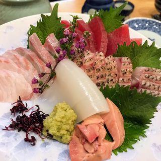 刺し盛り(ふぐ料理東)