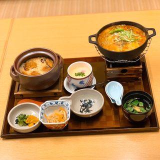 牡蠣の土手鍋定食