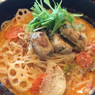 広島産牡蠣と帆立と冬野菜のトマトクリームスープ(五右衛門麻布十番店 )
