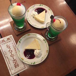 チーズケーキ(シマノコーヒー  大正館)