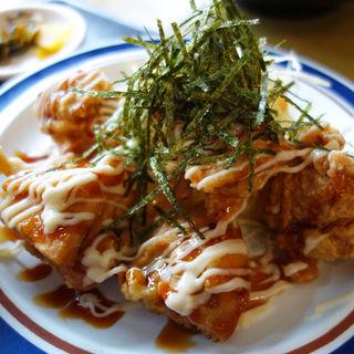 鶏照りマヨ定食(かちかち山 大博町店)