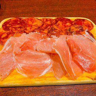ハモンイベリコとハモンセラーノの食べ比べ(俺のスパニッシュ)