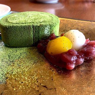 抹茶ロールケーキセット(阿部茶舗 )