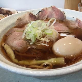 淡竹(ハチク)+レア焼豚丼(麺屋優光)