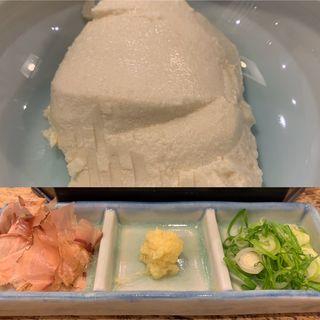ざる豆腐(更科堀井 立川店 (さらしなほりい))