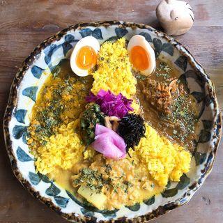 3種あいがけ(お出汁とスパイス 元祖 エレクトロニカレー)