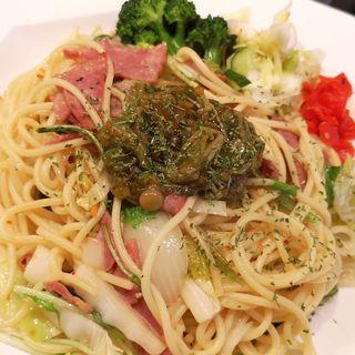 きのこと野菜のペペロンチーノ