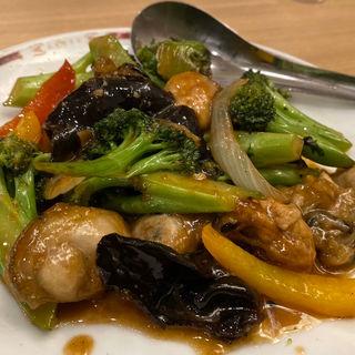 帆立と彩り野菜の香り炒め(中華レストラン みつい )