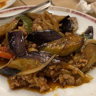 茄子と豚ひき肉のピリ辛炒め