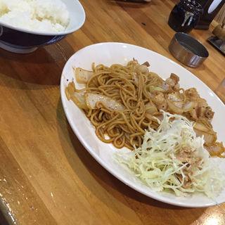 ホルモン焼ソバ定食(あつむら )
