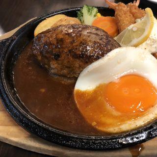 ハンバーグandエビフライ(ハンバーグ&ステーキlolo)