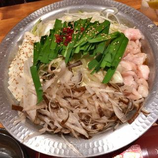 国産牛モツ鍋(西新宿 ふじ屋)
