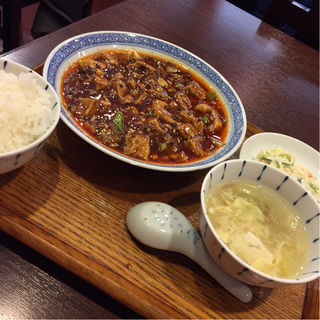 四川麻婆豆腐ランチ(中国菜 オイル )