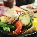 親鶏と旬野菜のソテー