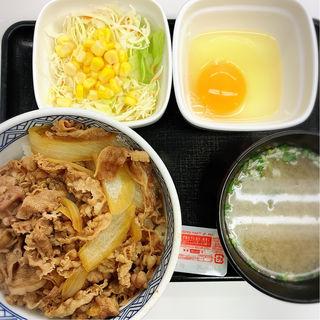 中目黒店限定ランチセット(吉野家 中目黒駅前店 )