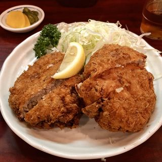メンチカツ定食(銀座 とん㐂)