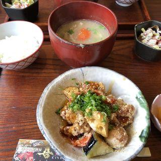 日替わりお味噌汁定食(ミスタードーナツ 阪急茨木市駅ショップ (mister Donut))