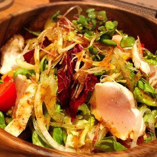 鶏むねたたきのさっぱりサラダ(クカバラ)