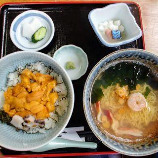 磯ラーメン+ミニうに丼セット