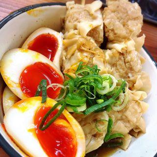 関東煮半熟玉子・焼売(出汁のオアシス)