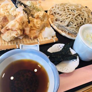 鶏天ざる(武柳庵)