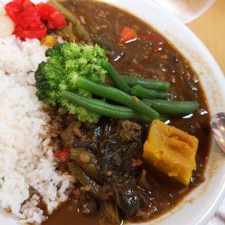 菜の花とパプリカの挽肉カレー(カフェ デ カリー (Cafe de Curry))