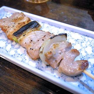 豚ねぎ(炭火串焼・まる和)