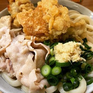 肉うどん スペシャル (鶏天・豚肉)(うどん甚三 (じんざ))