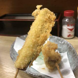 串カツ ナス