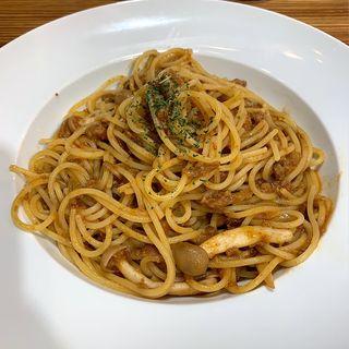 ロイヤル三元豚のポルチーニ茸ボロネーゼ(Dal Segno)